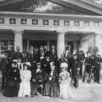 Kung Oscar II på besök 1906